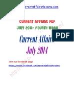 Current Affairs July 2014 Fourth Week