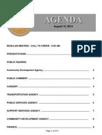 Agenda 8-12-14