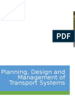planning Design and Management of Transportation Systems