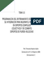 Programacion Del Entrenamiento de Resistencia y Su Integracion Para Mejorar El Rendimiento en Deportes Complejos (Colectivos y de Combate) (Javi_o)