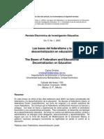 B4 2 y 3 Delprograma Las Bases Del Federalismo y La Descentralización en Educación Contenido-Ornelas