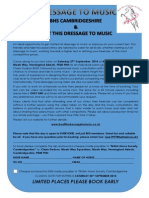 Dressage to Music Workshop - Saturday 27th September 2014