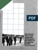 Funciones y Competencias Del Preparador Físico de Un Club. Paco Seirul.lo