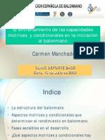 Los Aspectos Físicos en Las Categorias Infantil y Cadete Carmen Manchado 2009