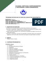 PROGRAMA DE DISCIPLINA- ÁLGEBRA II