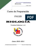 Biología  PAU25 Programación