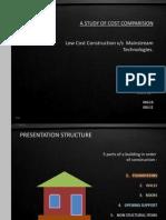 Low Cost Construction Techniques Cost Comparision