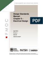 MAN-004 Design Standards Manual Ch-09 Electrical Design