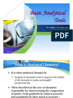 Basic Analytical Tools (CHM112)