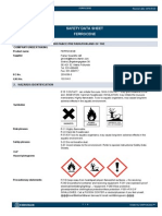 Saftey Data Sheet for Ferrocene