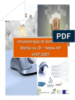 Gestão Da IDI - Modelo e Requisitos NP 4457_Global Score