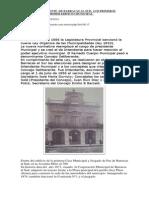 El Primer Intendente y Los Primeros Concejales de Barracas Al Sud