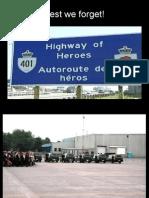 Highway of Heroes - Canada