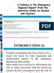 Alcohol and Violence in the Emergency Room