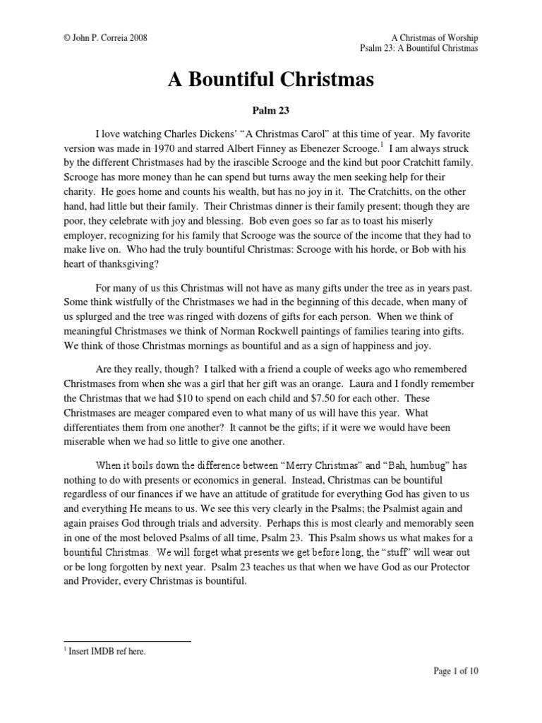 A Bountiful Christmas | Shepherd | Ebenezer Scrooge