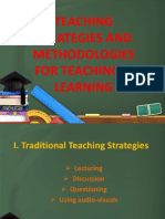 Teaching Strategies and Methodologies for Teaching & Learning