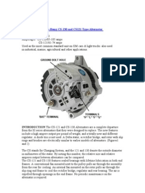 [SCHEMATICS_4JK]  Service Manual Delco-Remy CS-130 | Voltage | Electrical Engineering | Delco Remy Alternator Wiring Diagram |  | Scribd