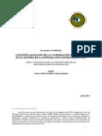 Conceptualización de La Cooperación Fronteriza en El Sica