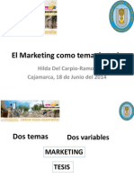 El Marketing Como Tema de Tesis