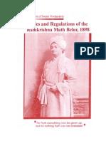 Rules and Regulations of the Ramakrishna Belur Math, 1898