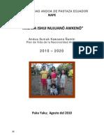 Plan de Vida Nacionalidad Andoa Pastaza Ecuador
