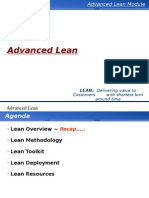 Advanced Lean Delivering Value to Customers in the Shortest Turn Around Time - Toyota Model