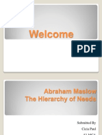 Abraham Maslow Theory
