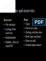 7 Reservoirs and Dams