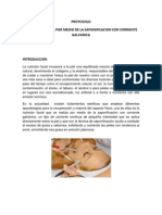 Protocolo Nutricion Facial Por Medio de Saponificacion Con Corriente Galvanica