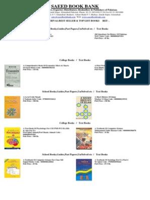 Text Books List1 | Islamabad | Pakistan