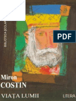 Miron Costin - Viata Lumii (Aprecieri)