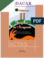 Actas II Congreso Aragones