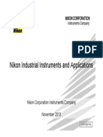 Nikon Industrial Instruments and Application
