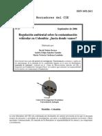 Regulacion Ambiental Sobre Contaminacion Vehicular en Colombia