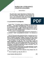 Filón de Alejandría y La Inteligencia Extrañada (Art.)