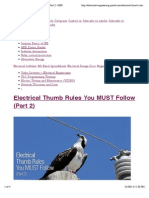 "Preview of ""Electrical Thumb Rules You MUST Follow (Part 2) 