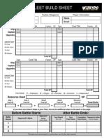 Staw Fleet Build Sheet