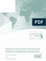 SSI-Strategic Implications of the Evolving Shanghai Cooperation Organization -Aug2014