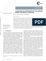 Natural Products as Starting Points for the Synthesis of Complex and Diverse Compounds