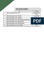 Design Manual Document Version Listing