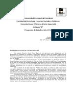 2013-Programa de Derecho Penal II - (Carrara)