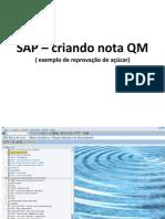 SAP – Criando Nota QM ( Exemplo De