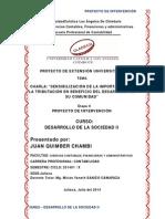 Dares_desarrollo de La Sociedad Ii_contabilidad_juan Quimber Chambi_proyecto de Intervención