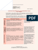 Modifican Reglamento de Seguridad y Salud en el Trabajo - Decreto Supremo 006-2014-TR