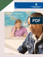 TeachersManual-MakingtheMostofYourMoney