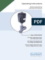 Burkert Angle Seat- Globe Valve Maintenance Manual-English