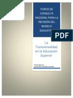 Transverdalidad en La Educacion Superior