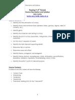 reading 9 aod course description and syllabus