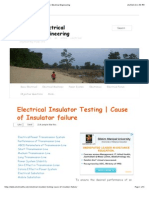 Electrical Insulator Testing | Cause of Insulator failure | Electrical Engineering