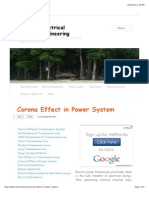 Corona Effect in Power System | Electrical Engineering